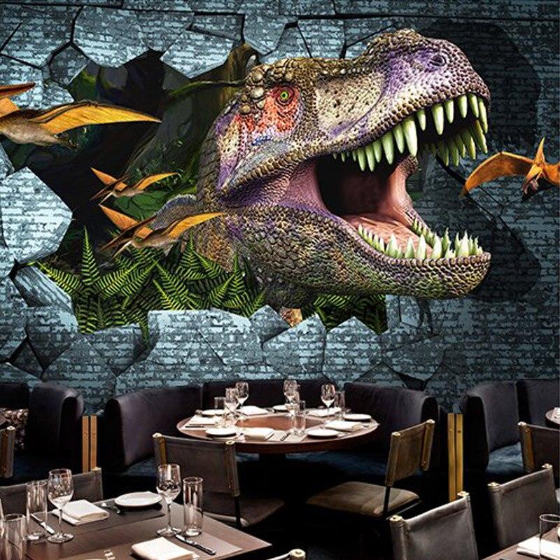 Dino Behang. Dinosaurus Vlies Deurposter Afmeting Cm Breed X Cm Hoog ...