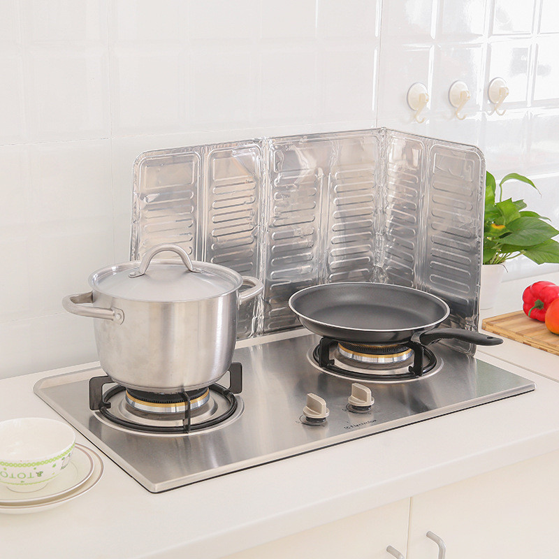 1 set kitchen oil aluminium foil plate gas stove oil splatter screens kitchen tools cooking splash