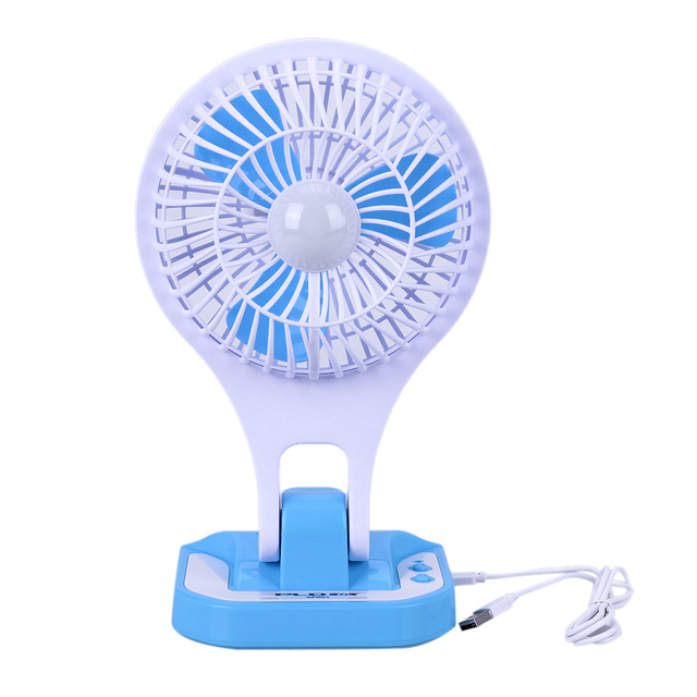 Perfect New Mini USB Fan Small LED Lamp Student Dormitory Office Eye Protection  Portable Cooling Fan With