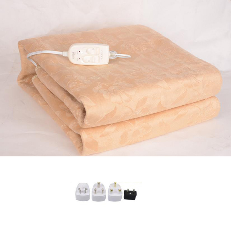 Luxury Flannel Electrical Blanket Electric Mattress Electric Blanket Thicker Heated Carpet Electric Mat Body Warmer Heater bathroom flannel skidproof shore scenery mat