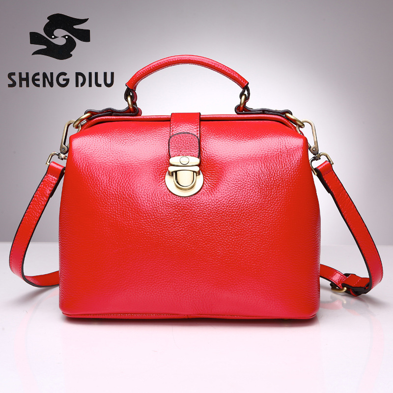 2017 Famous Designer Luxury Brand Women Genuine Leather Handbag Shoulder Messenger Bag Tote Bolsas Mujer luxury genuine leather bag fashion brand designer women handbag cowhide leather shoulder composite bag casual totes
