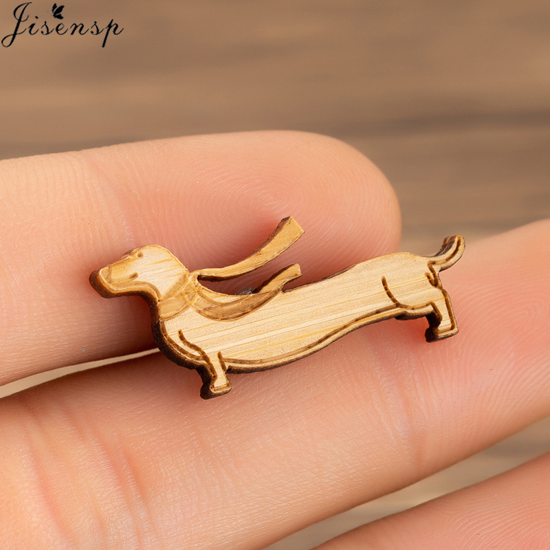 Jisensp Cute Puppy Dachshund Brooch Enamel Pin Coat Button Pins Denim Jackets Pin Badge Fashion Dog Animal Jewelry Gift For Kids