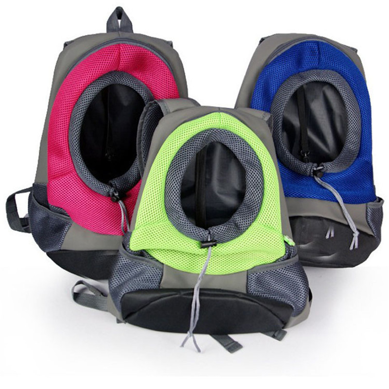 Portable Pet Travel Bag Dog Carrier Bag Carrying Cat and Small Dogs Backpack Head Out with Strong Double Shoulder