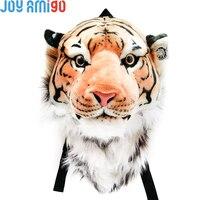Huge Size Bengal Tiger Animal Head Backpack Stuffed Plush Cartoon Bag and Wall Mount Gift 60cm*45cm