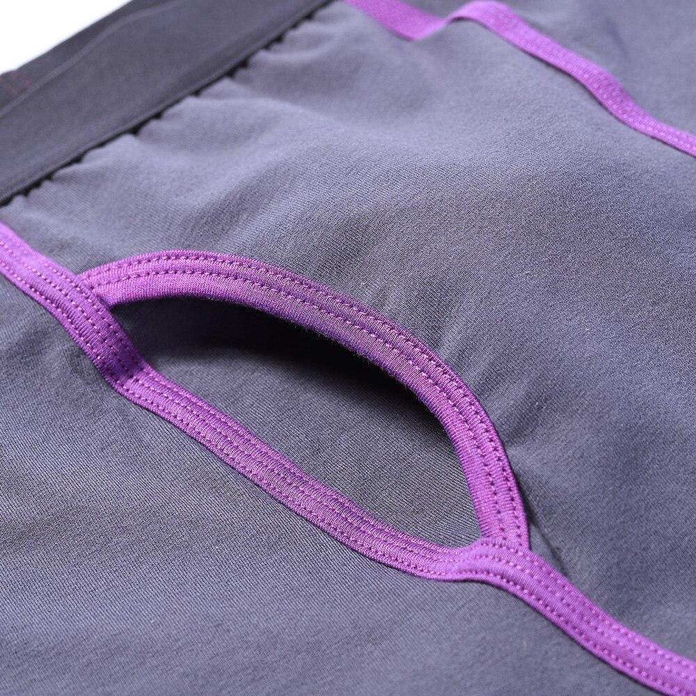 Long Boxers Men 5 Pcs/Lot Breathable Cotton Boxer for Men Soft Mens Underwear Men Boxershorts Male U-convex US Size M L XL XXL