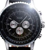 Hot Fashion Brand JARAGAR Automatic Self wind Mechanical Watch Men Luxury Oversize Calendar Design Class Leather Men's Watches