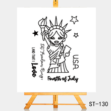 цена на AZSG Lovely goddess of freedom Clear Stamps For DIY Scrapbooking Rubber Stamp/ Seal Paper Craft Clear Stamp Card Making
