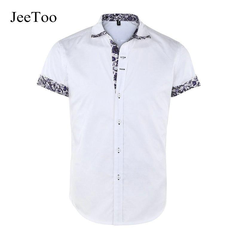 New Casual Men Shirt Long Sleeve Shirt White Cotton Mens Dress Turn Down Collar Camisa Social