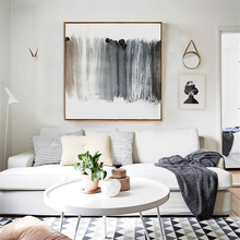 HAOCHU Modern Black White Cool Colors Art Canvas Painting Abstract Oil Poster Wall Pictures for Living Room Decoration