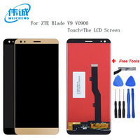 WEICHENG ZTE Blade V9 Smart Phone Touch Panel+ LCD Display Digitizer Touch Screen Lenses for ZTE V0900 +Free Tools