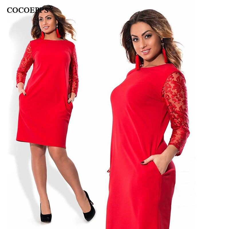 COCOEPPS Größe Frauen kleiden Blumendruck-Partei-Kleider - Damenbekleidung - Foto 2