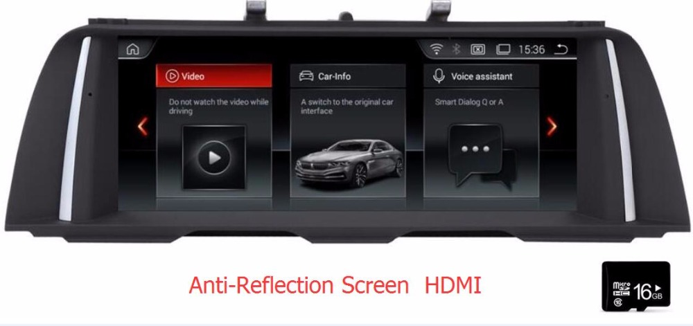 "Anti-Reflection Screen HDMI 2G ram 10.25"" Android 8.1 Car monitor for BMW 5s F10 F11 2011 2012 - 2016  Stereo Radio Vedio Audio"