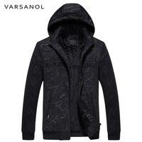 Varsanol Brand Casual Hoodies Men Thick Sweatshirt Jackets Long Sleeve Hooded Male Zipper Warm Fleece With