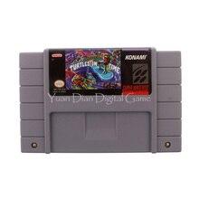 Nintendo sfc/snes cartucho de consola de videojuegos tarjeta teenage mutant tortugas tortugas hero iv en tiempo ee. uu. idioma inglés versión