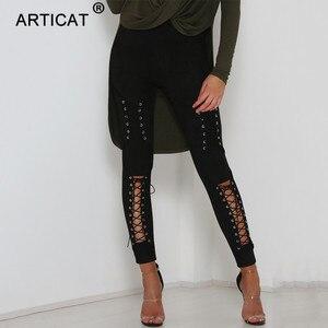Image 5 - Calças de camurça para outono e inverno, calça de camurça feminina skinny com cintura alta, casual