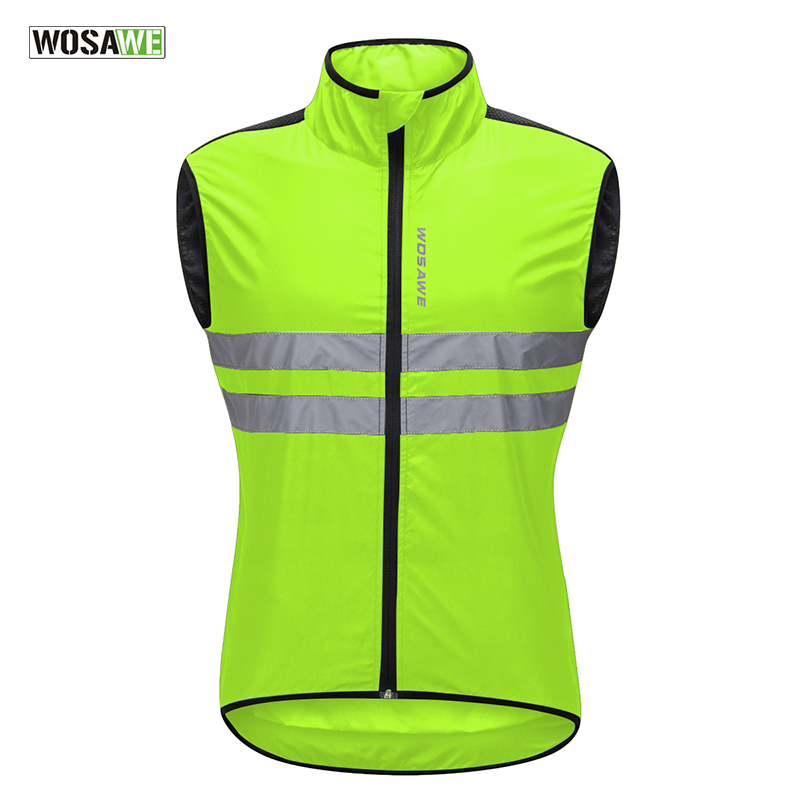 Wosawe Mtb Road Bike Reflective Jacket Light Weight Wateproof Cycling Jacket Windbreaker Jacket Safety Vest Bicycle Clothing Back To Search Resultssports & Entertainment Cycling