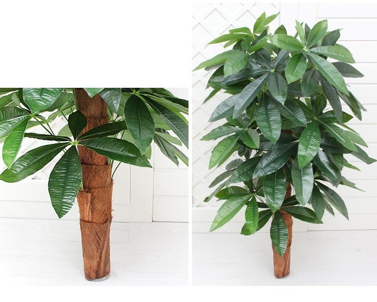 Ev ve Bahçe'ten Yapay Bitkiler'de 90 CM Yapay Ağaç Gerçek Dokunmatik Plastik Zengin Para Sahte Ağaç olmadan Pot ev bahçe dekorasyonu Büyük Yapay Bitkiler'da  Grup 3