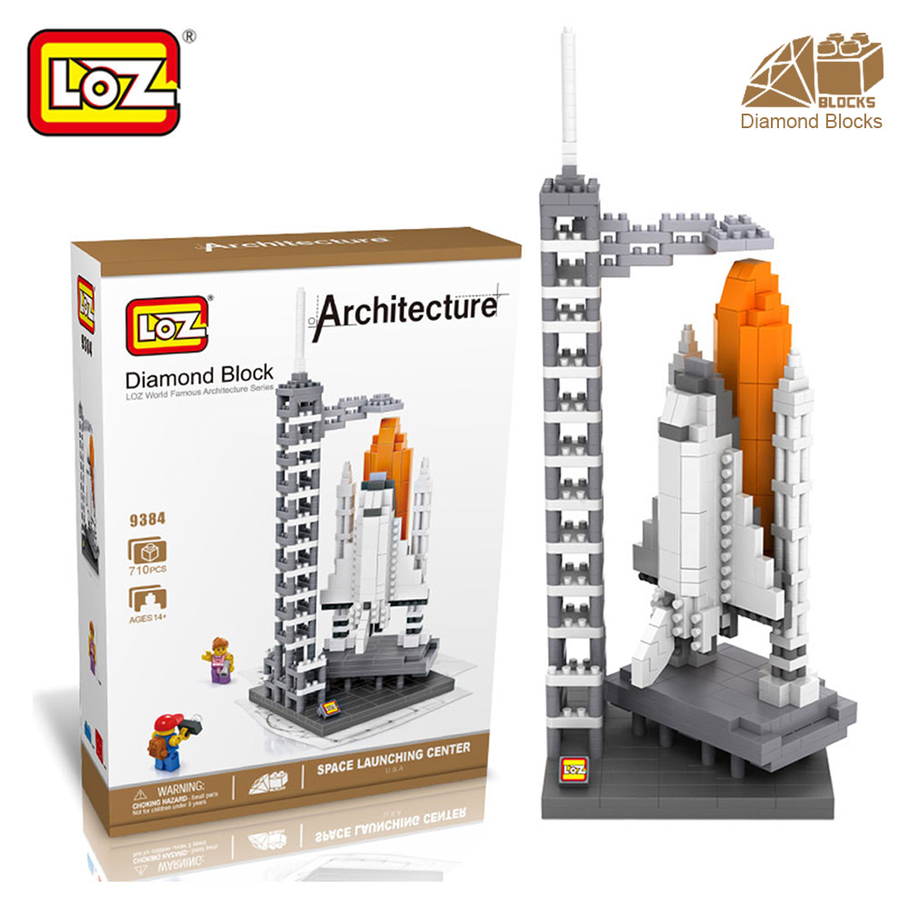 Mr.Froger LOZ Diamond Blocks Space Launching Center Model Architecture Pixel Building Blocks Plastic Micro  Assembly Toys Bricks mr froger loz diamond block easter island world famous architecture diy plastic building bricks educational toys for children