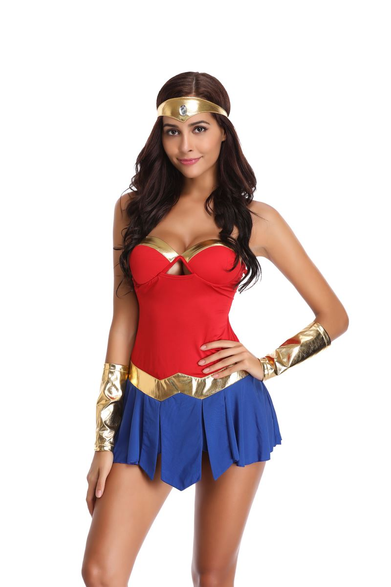2018 Sexy Wonder Woman Costume Adult Superman Costumes -6017