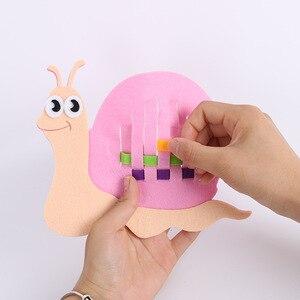 الأطفال DIY ورأى القماش الحرف رياض الأطفال غير المنسوجة الاطفال دراسة لعب بواسطة الأيدي ورأى النسيج التدريس المبكر لعب