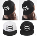 2015 chica moda gorras y sombreros del Snapback de la personalidad de primavera cordones de los zapatos de cuero de la PU béisbol Snap Hiphop Hiphop tapa ocasional del casquillo del sombrero femenino