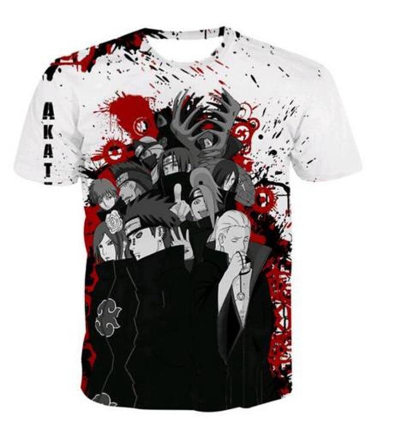 2018 Casual Hip Hop para mujer / hombre camiseta Anime Naruto - Ropa de hombre