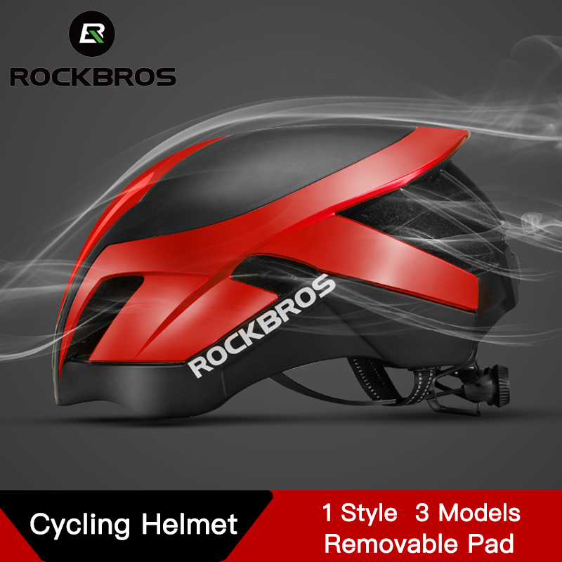 ROCKBROS Integrally Molded Pneumatic Cycling Helmets Mountain Bike Helmet 3 in 1 MTB Road Cycle Helmets