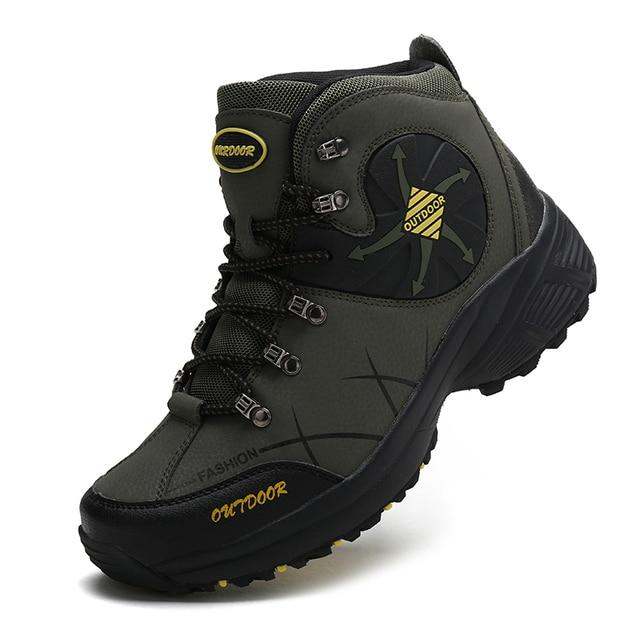 Outdoor Men Hiking Shoes Big SIZE 46 Leather Trekking Shoes Women Sneakers Climbing Mountain Sport Shoes Calzado Senderismo