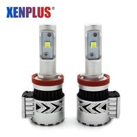 Xenplus 2 шт. H7 светодиодный фар автомобиля H4 H11 HB4 XHP50 кри фишек G8 супер яркий 72 W 12000LM 12 V 6000 k противотуманки свет лампы