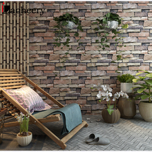 купить PVC Waterproof Living Room Wall Decor 3d Brick Stone Wallpaper Roll for Vintage Bedroom Kitchen Vinyl Self Adhesive Wall Sticker по цене 650.66 рублей