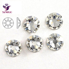 2088 Non HotFix Rhinestones Clear White Glass Stones SS30 8 big+8 Small Flatback