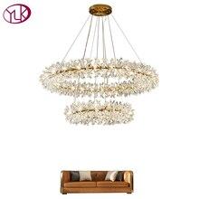 Роскошное Новое современное освещение люстры для гостиной Креативный дизайн подвесная хрустальная лампа для столовой светодиодный кристальная люстра
