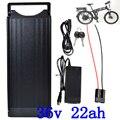 1000 Вт 36В ebike батарея 36В 22ач литиевый аккумулятор для скутера 36В Электрический велосипед батарея использовать алюминиевый корпус с багажной ...