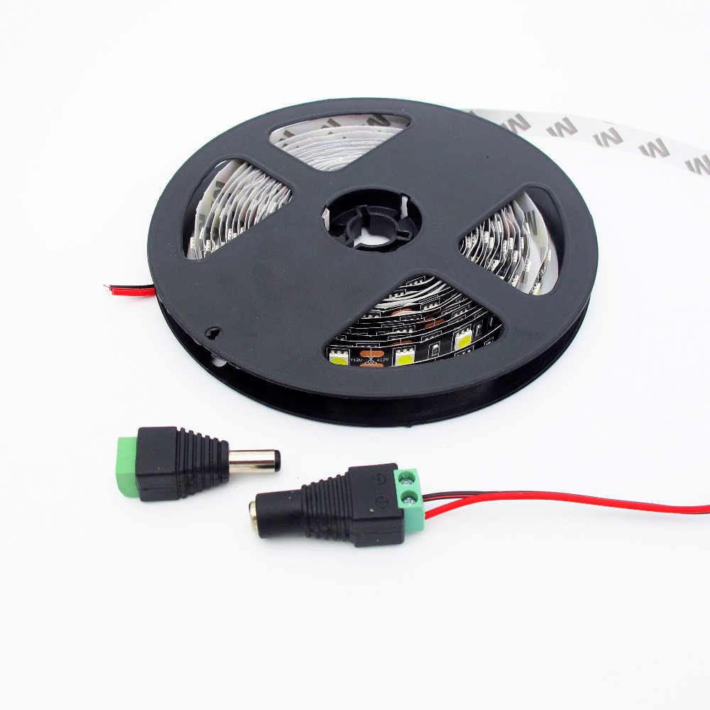 5.5mm x 2.1mm kobieta mężczyzna DC Power Plug Adapter do 5050 3528 5060 pojedynczy kolorowy pasek LED i kamery monitoringu