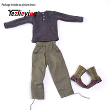 1/6 Scale Accessories Soldier WWII German Sweater+Veyron Defense pants+US Ranger Combat Boots Suit F 12 Action Figure Doll Toys