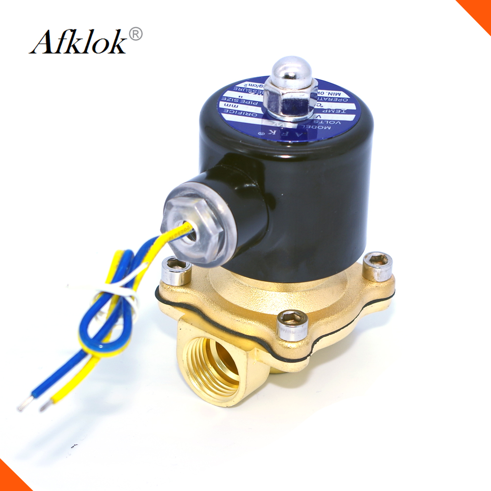 """Electric Solenoid Valve 2w-160-15 NC AC 220V 1//2/"""" Water Air Gas Valve"""