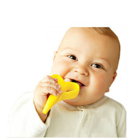 BPA Free Baby Toothbrush Baby Toy Teethers Kids Silicone Toothbrush Banana Pinceis Baby Care Massage Infant