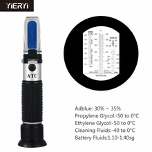 yieryi Hand Held Tester Tool 4 In 1 Engine Fluid Glycol Antifreeze Freezing Point Car Battery Refractometer Antifreeze Tester(China)