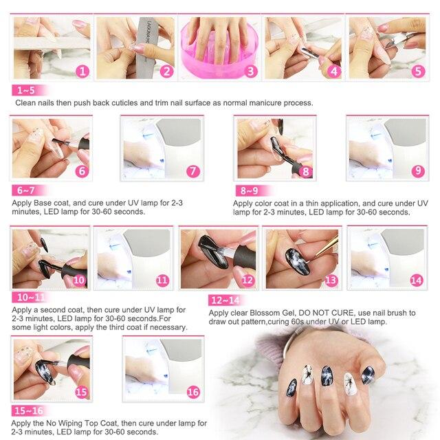 Elite99 Blossom UV Nagel Gel Polnisch DIY Blühende Blumen Muster Led Gel Nagellack Hybrid UV Lack Nagel Kleber Gel 10ml