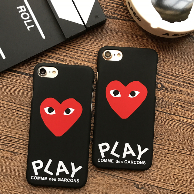 new york ff477 b313b US $1.67 10% OFF|Fashion streetwear brand CDG Play Comme des Garcons Hard  Matte plastic case for iphone X 5S SE 6s 6 7 Plus 8 8plus 10 cover -in ...