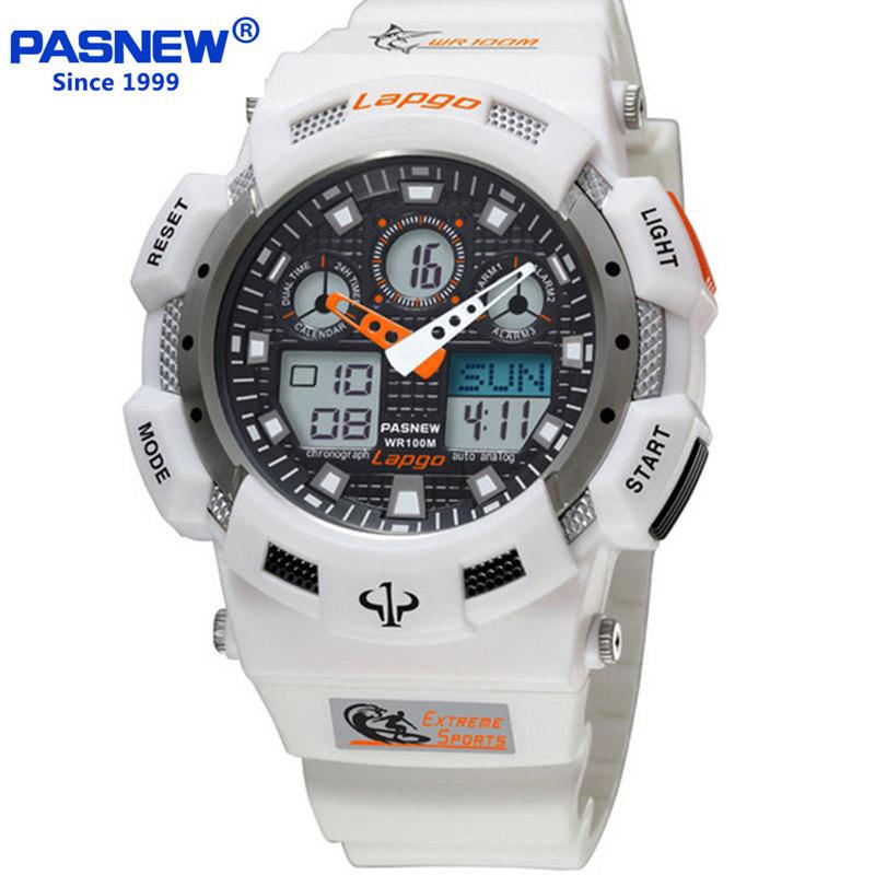 Prix pour Pasnew marque hommes montres de sport double affichage analogique numérique led électronique montres à quartz 100 m étanche montre de plongée
