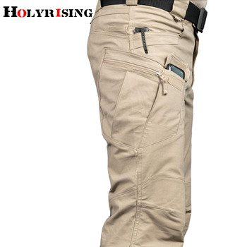 Holyrising men Tactical pants Multiple Pocket Elasticity Military Urban Commuter Tacitcal Trousers Men Cargo Pant 118846-5