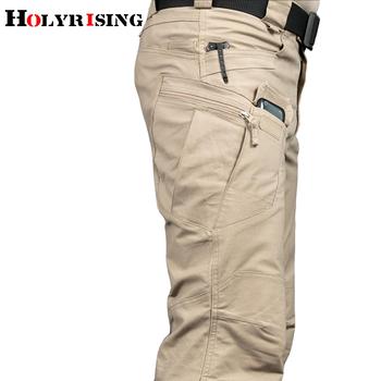 Holyrising męskie spodnie taktyczne wiele kieszeni elastyczność wojskowe miejskie podmiejskich taktyczne spodnie męskie spodnie cargo 118846-5 tanie i dobre opinie Cargo pants COTTON Poliester Midweight 29 - 40 6 Pełnej długości W stylu Safari REGULAR Suknem Kieszenie Zipper fly Mieszkanie