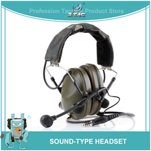 Z-Tactical Airsoft Aviation Peltor Sound-Trap Headset Military Noise Cancelling Headphones Softair For Shooting Z042