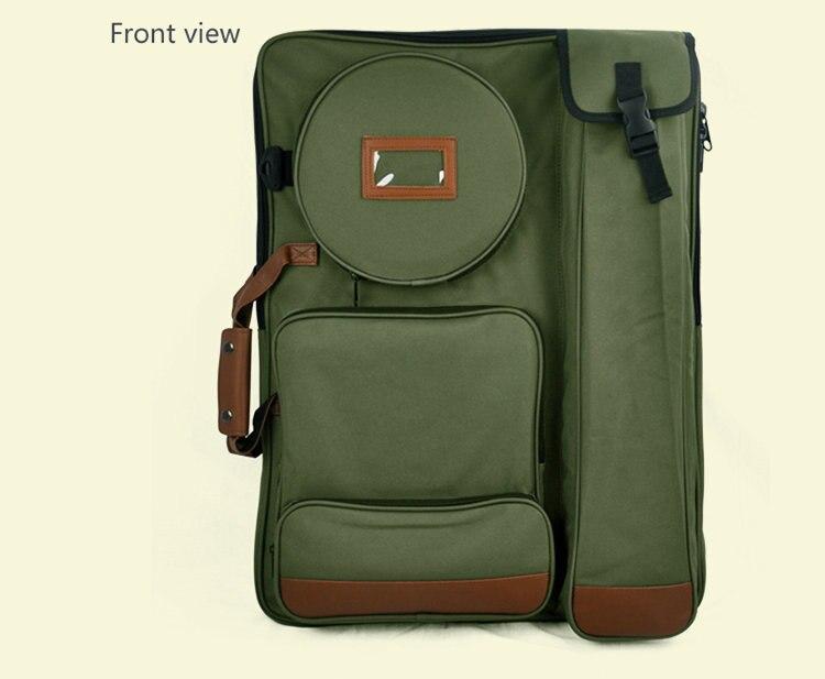 Fashion Army Green Art Bag 4K Large Drawing Board Bag Oxford Fabric Drawing Kit Art School