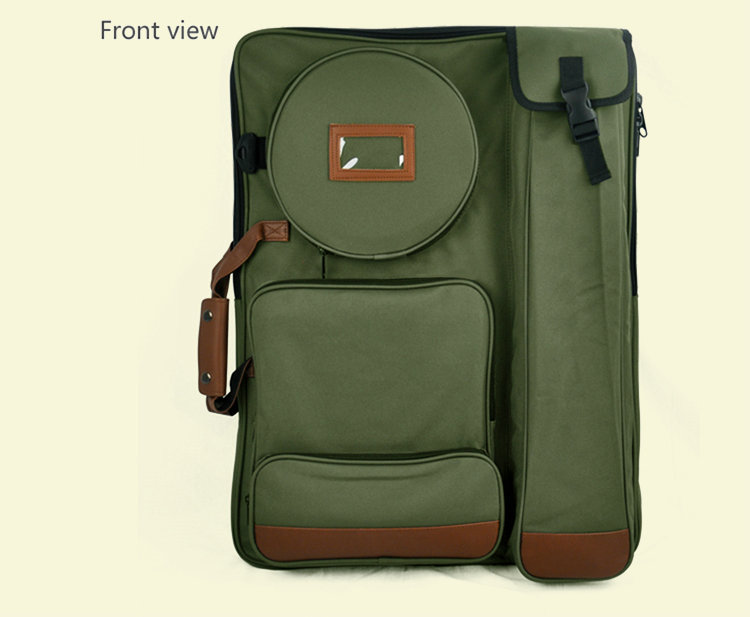 Sac d'art vert d'armée de mode 4 K grand sac de planche à dessin trousse de dessin de tissu d'oxford sac d'école d'art