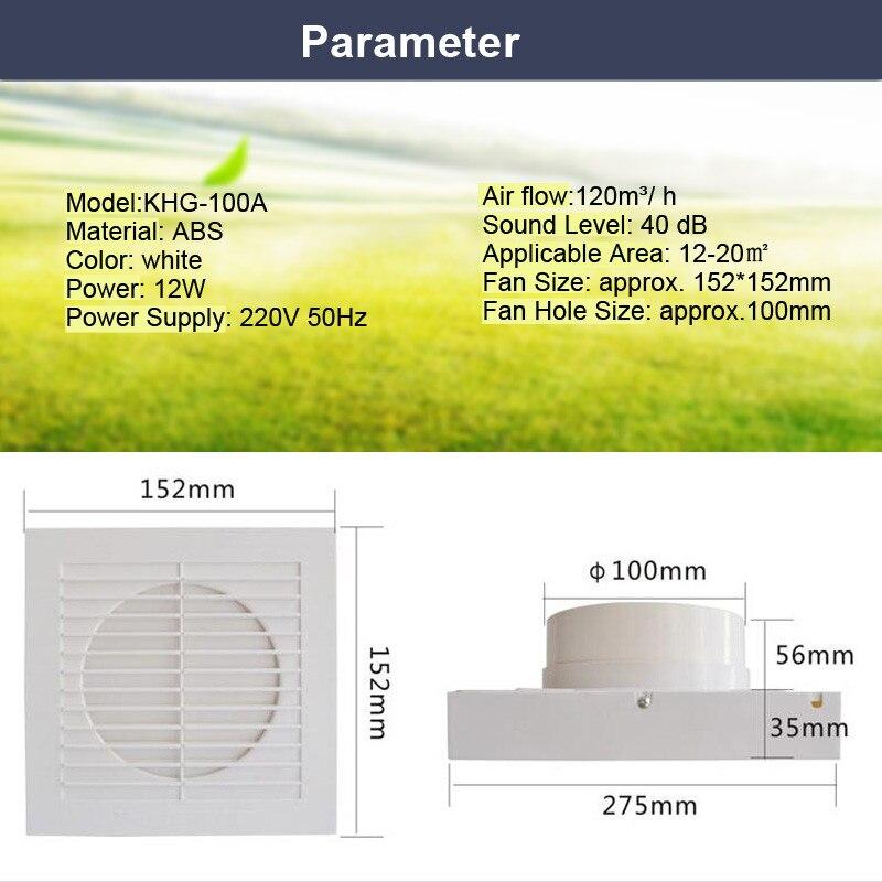 ... Abluftventilator Aliexpress 12 Watt 4 Zoll Lüftung Abluftventilator    Badezimmer Abluftventilator ...