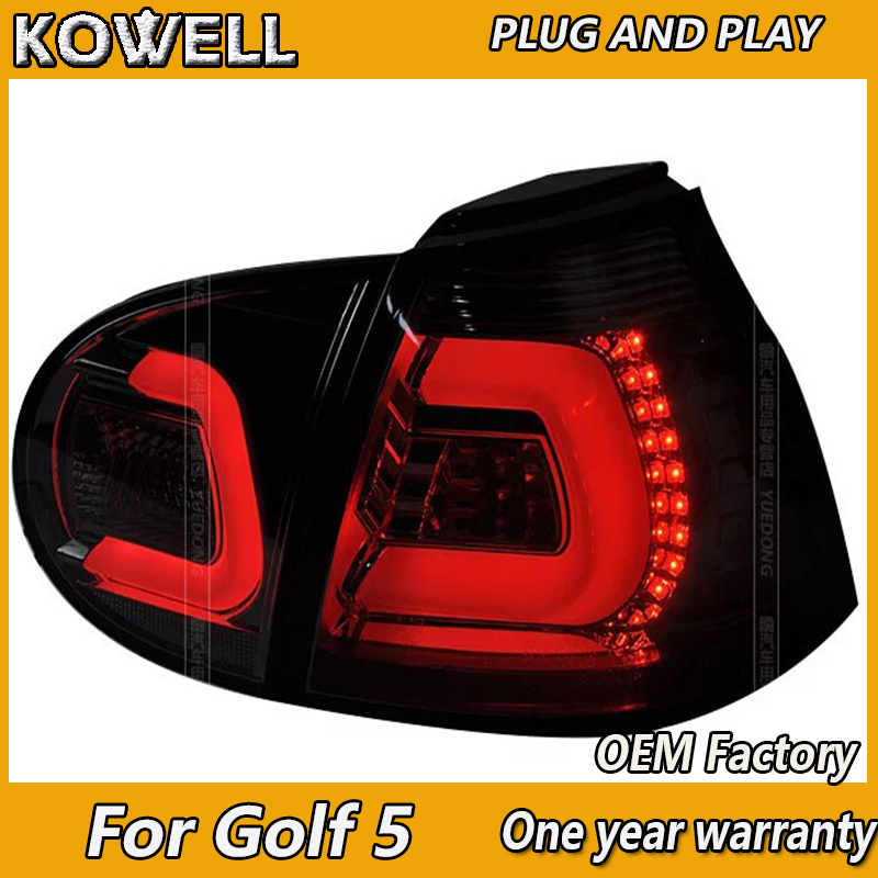KOWELL Car Styling For vw golf 5 led rear lights car styling golf mk5 led rear lamp parking vw golf 5 taillights led car