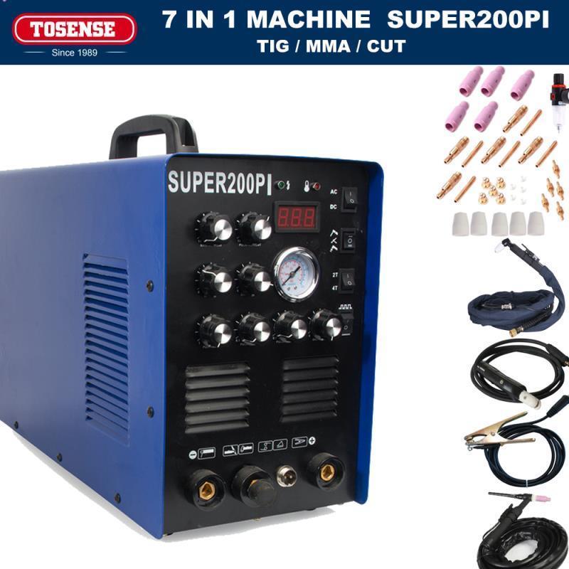 7 In 1 Multi-function TIG/MMA/CUT Super200pi Welder Machine,Plasma Cutter 220v