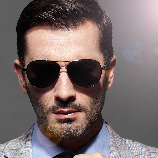 Stylish Sunglasses Mens  aliexpress com black men sunglasses polarized gold classic